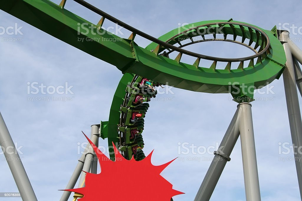 Roller Coaster Pow royalty-free stock photo