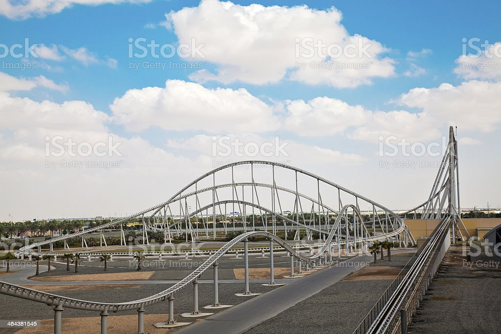 Roller coaster ride royalty-free stock photo