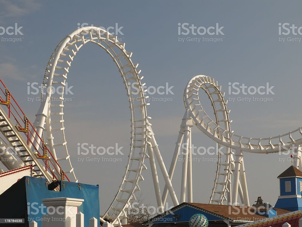 Roller coaster sections royalty-free stock photo