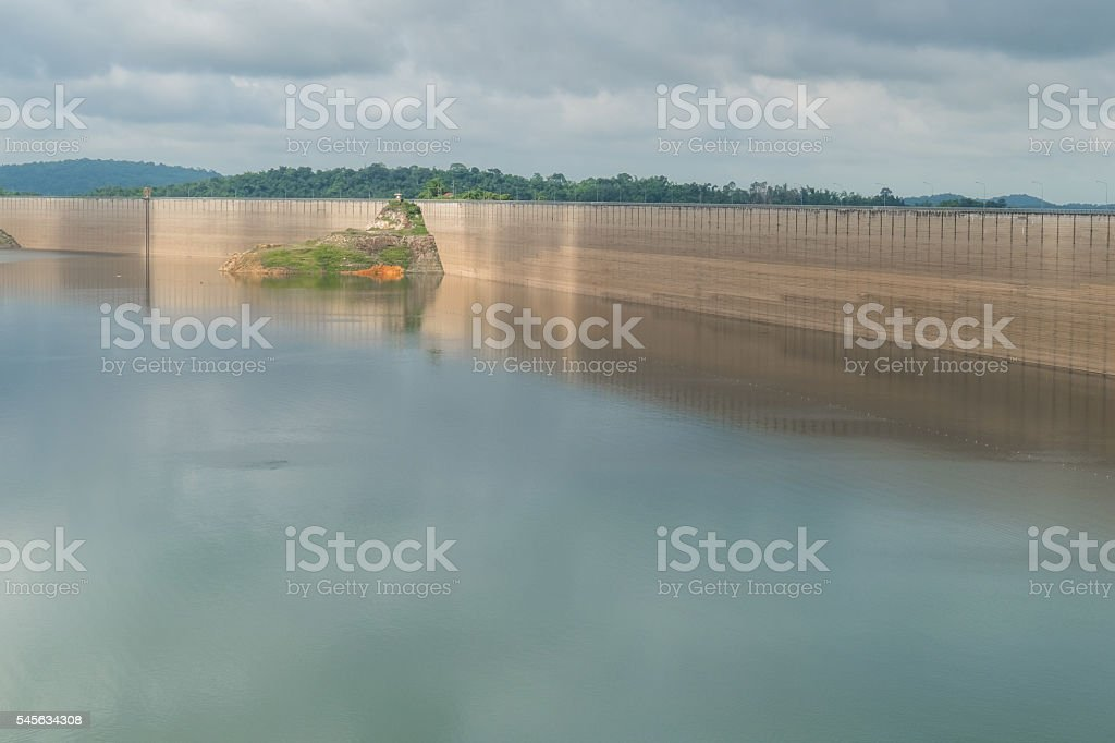 Roller Compacted Concrete or RCC Dam,Thailand stock photo