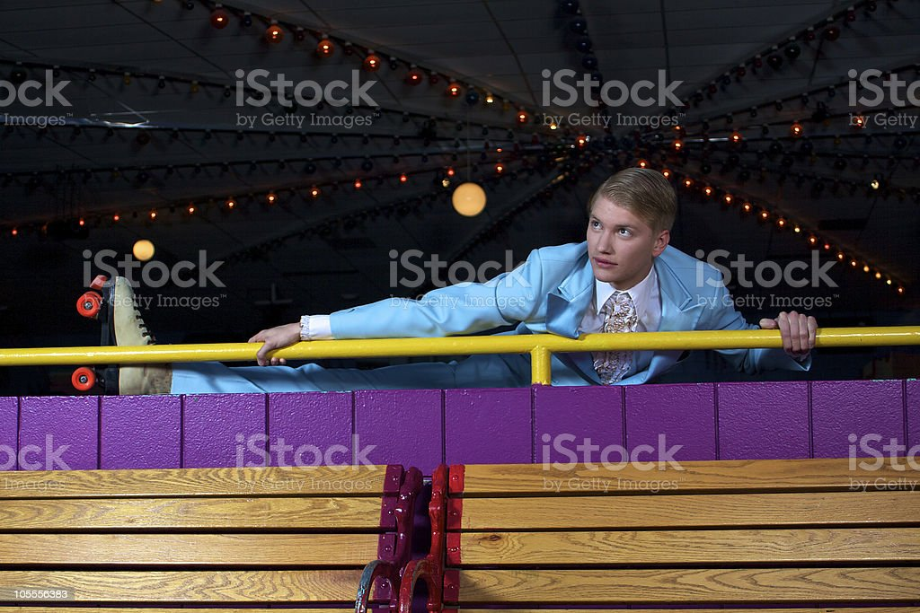 Roller Disco Stretch stock photo