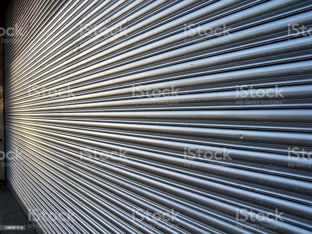Roller door stock photo