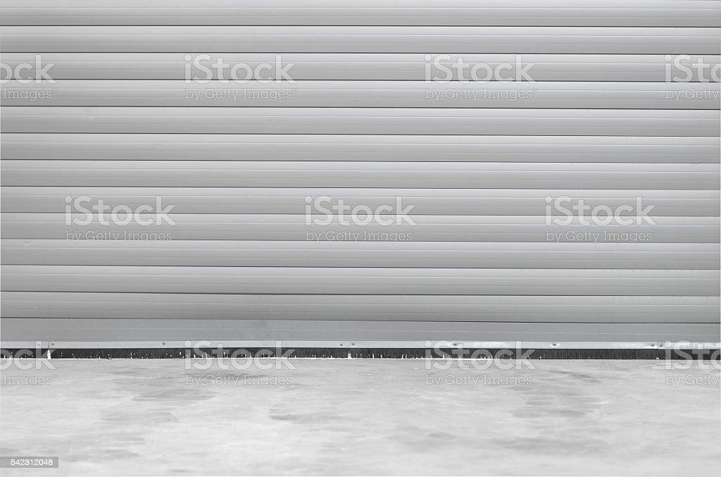 Roller shutter garage door. stock photo