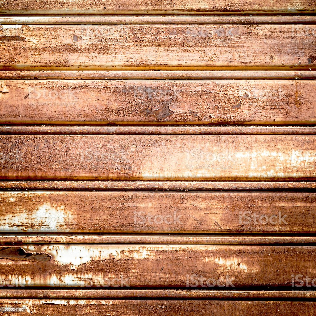 Roller shutter rusted stock photo