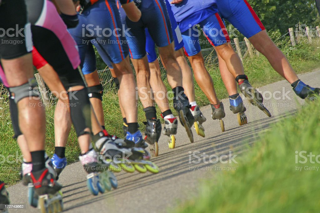 Roller skaters # 3 royalty-free stock photo