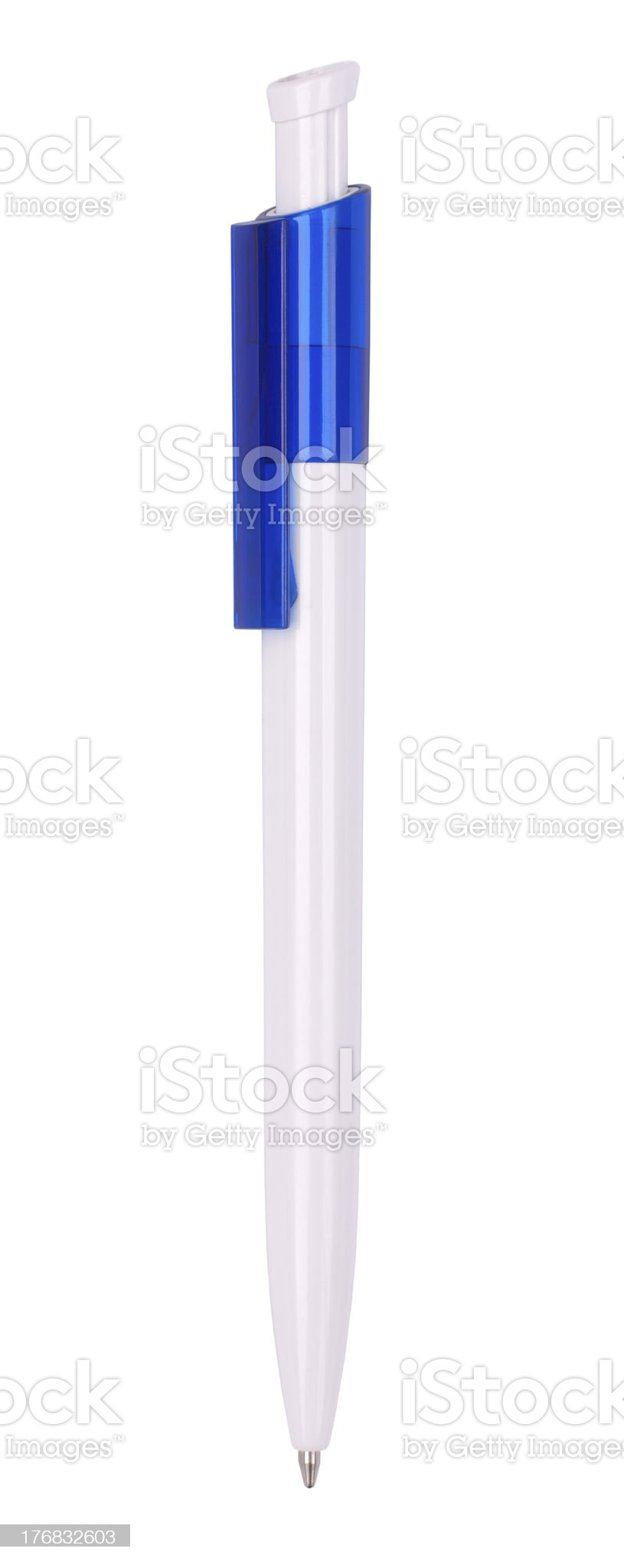 Rollerball pen isolated with clipping path royalty-free stock photo