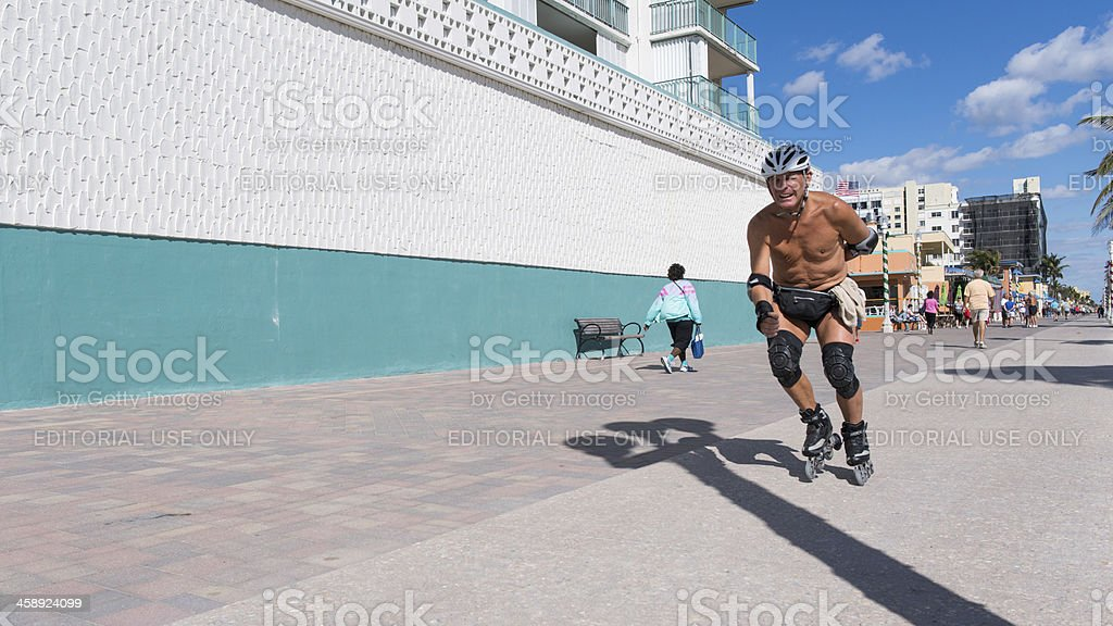 Rollerblading away royalty-free stock photo