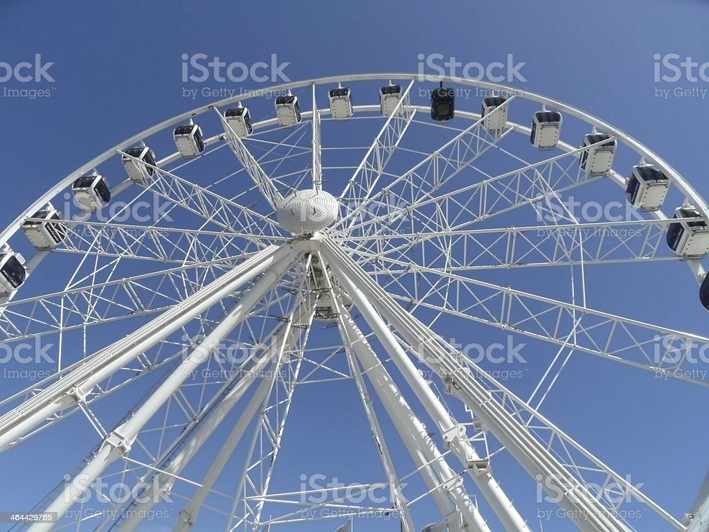 rollercoaster before steel blue sky royalty-free stock photo