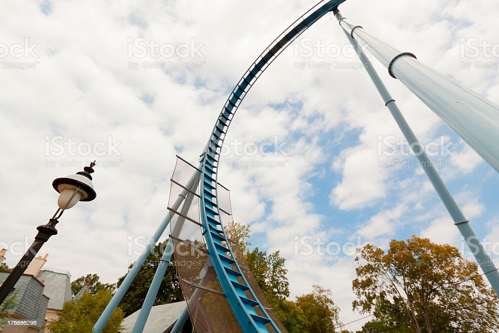 Rollercoaster loops. royalty-free stock photo
