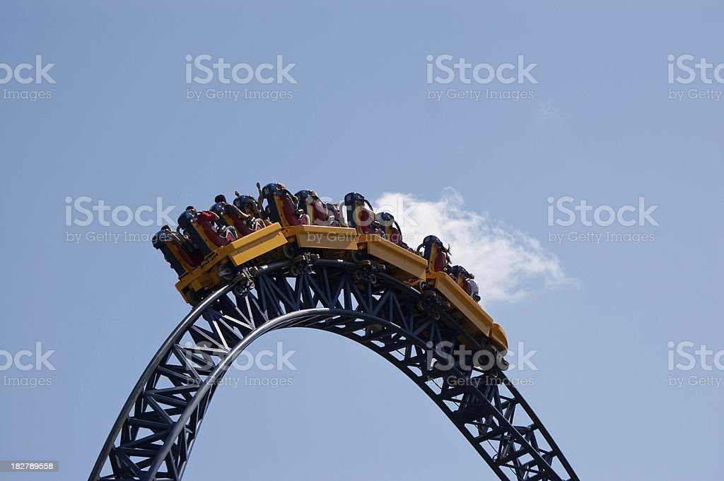 Rollercoaster Part stock photo