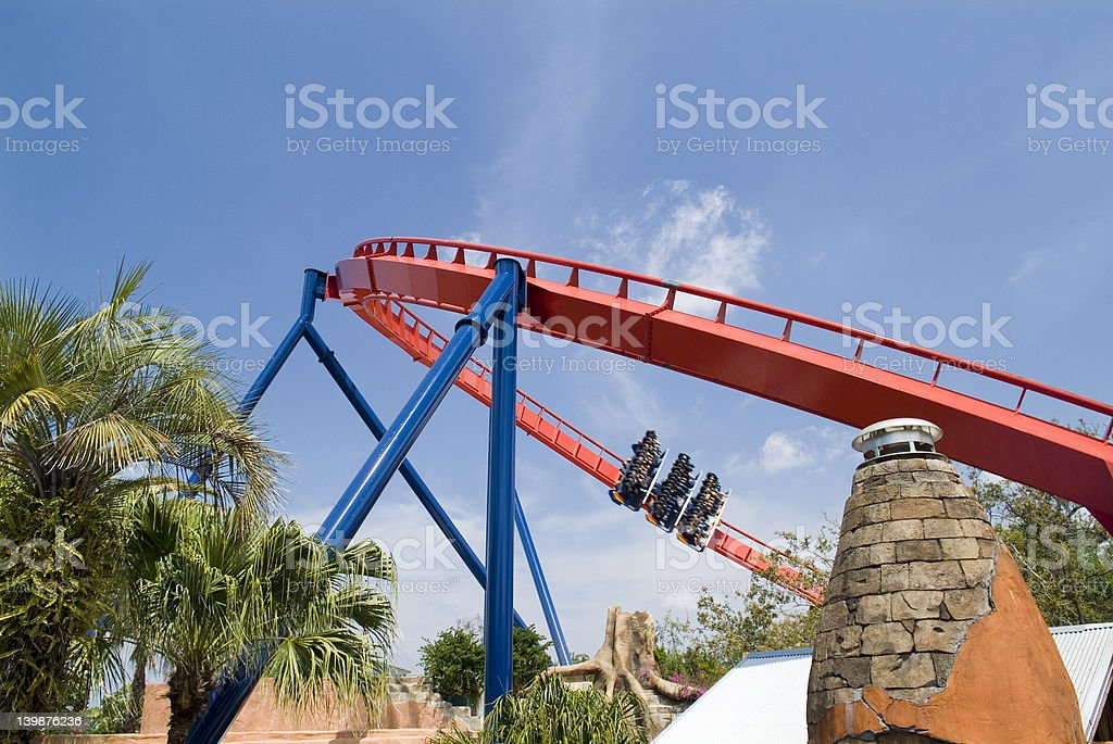 Rollercoaster royalty-free stock photo