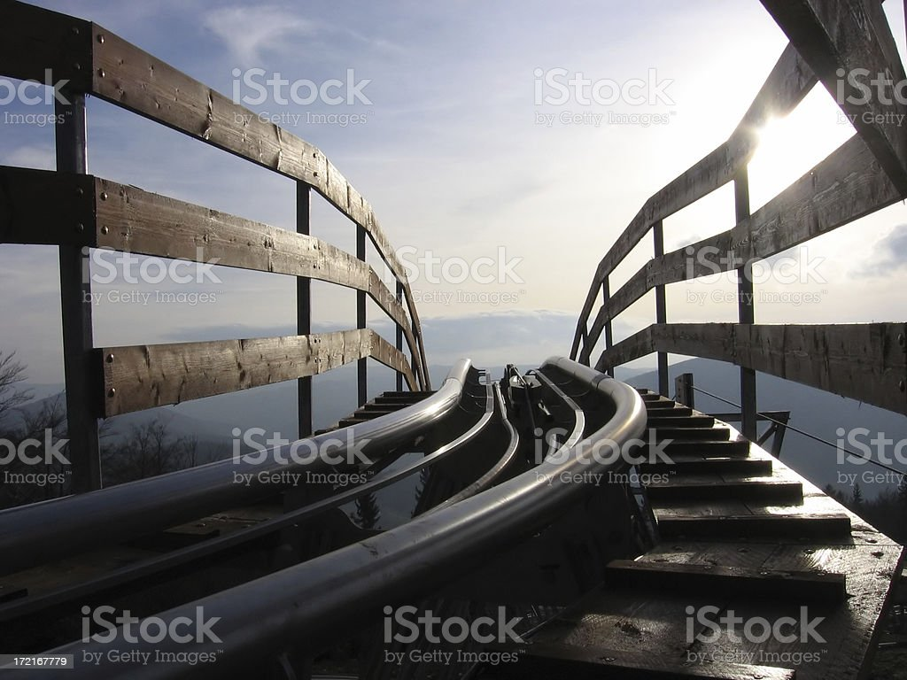roller-coaster royalty-free stock photo