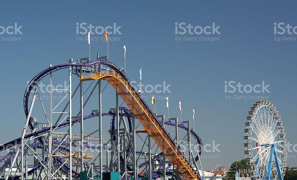 roller-coaster stock photo