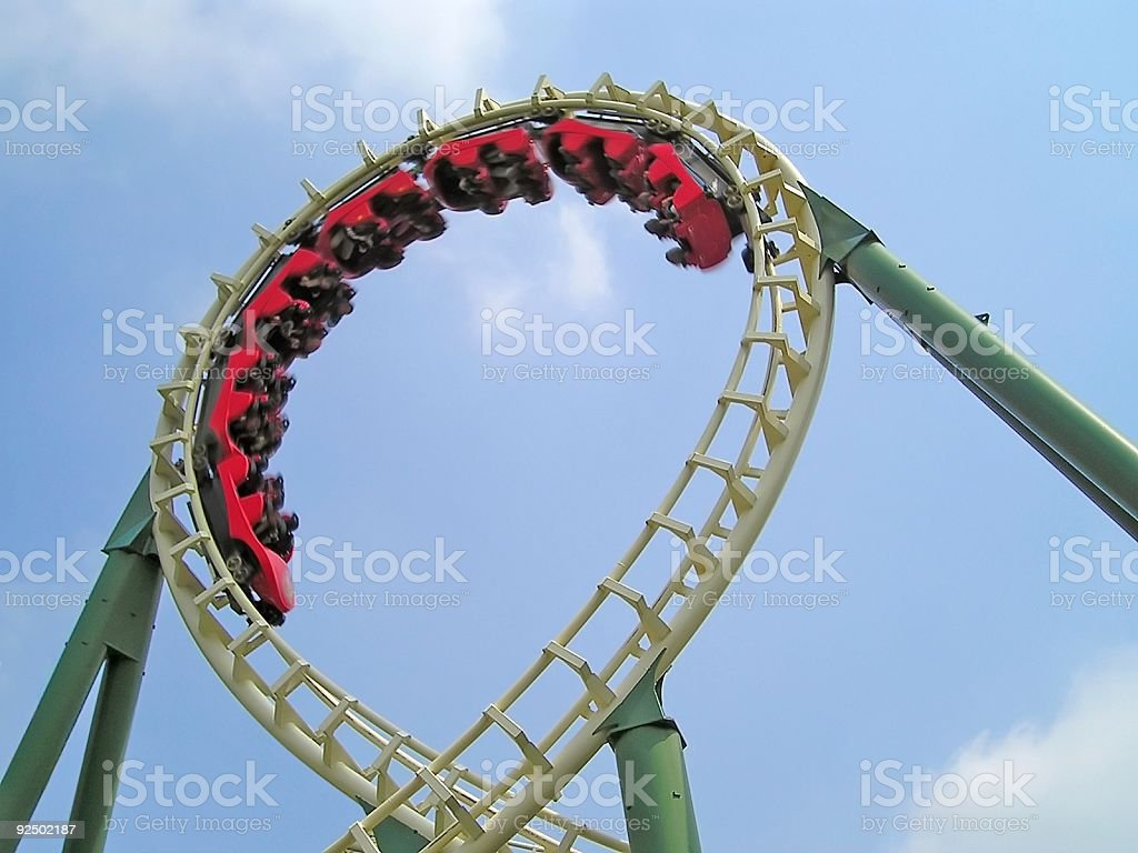 rollercoaster stock photo