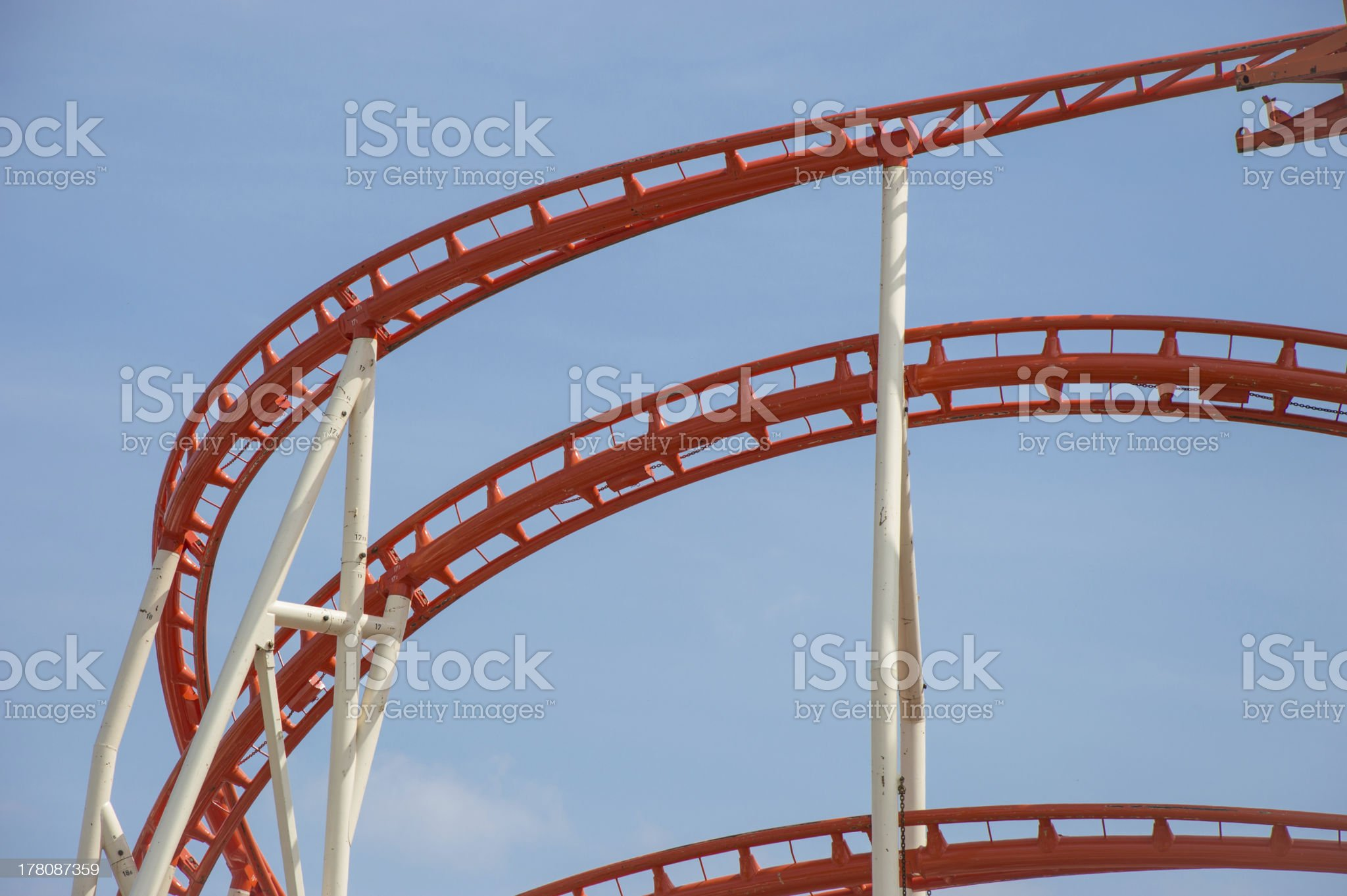 Rollercoaster rails royalty-free stock photo