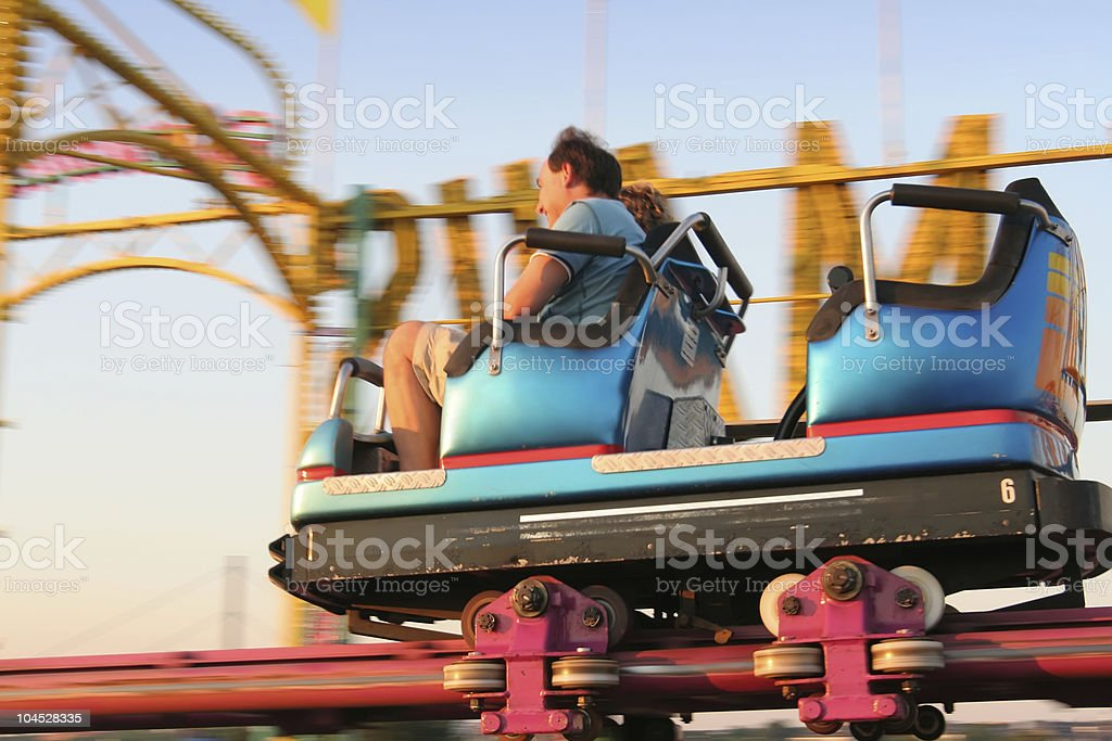 rollercoaster ride stock photo