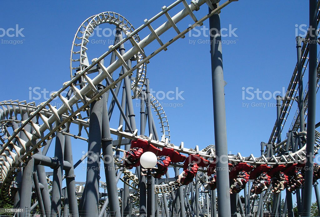 Rollercoaster ride royalty-free stock photo