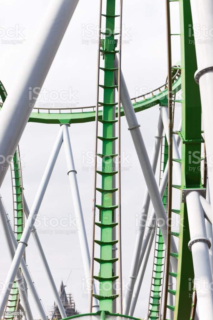 Rollercoaster structure royalty-free stock photo