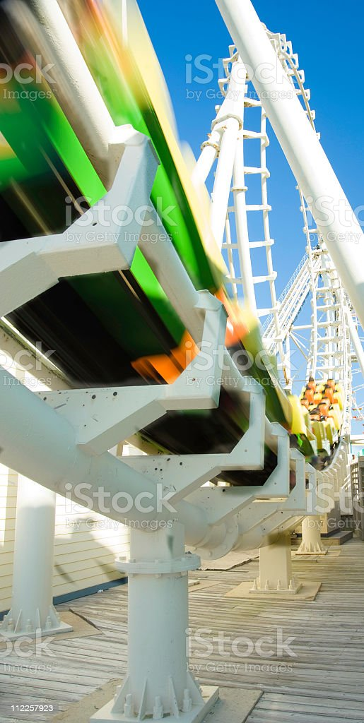rollercoaster zooming royalty-free stock photo