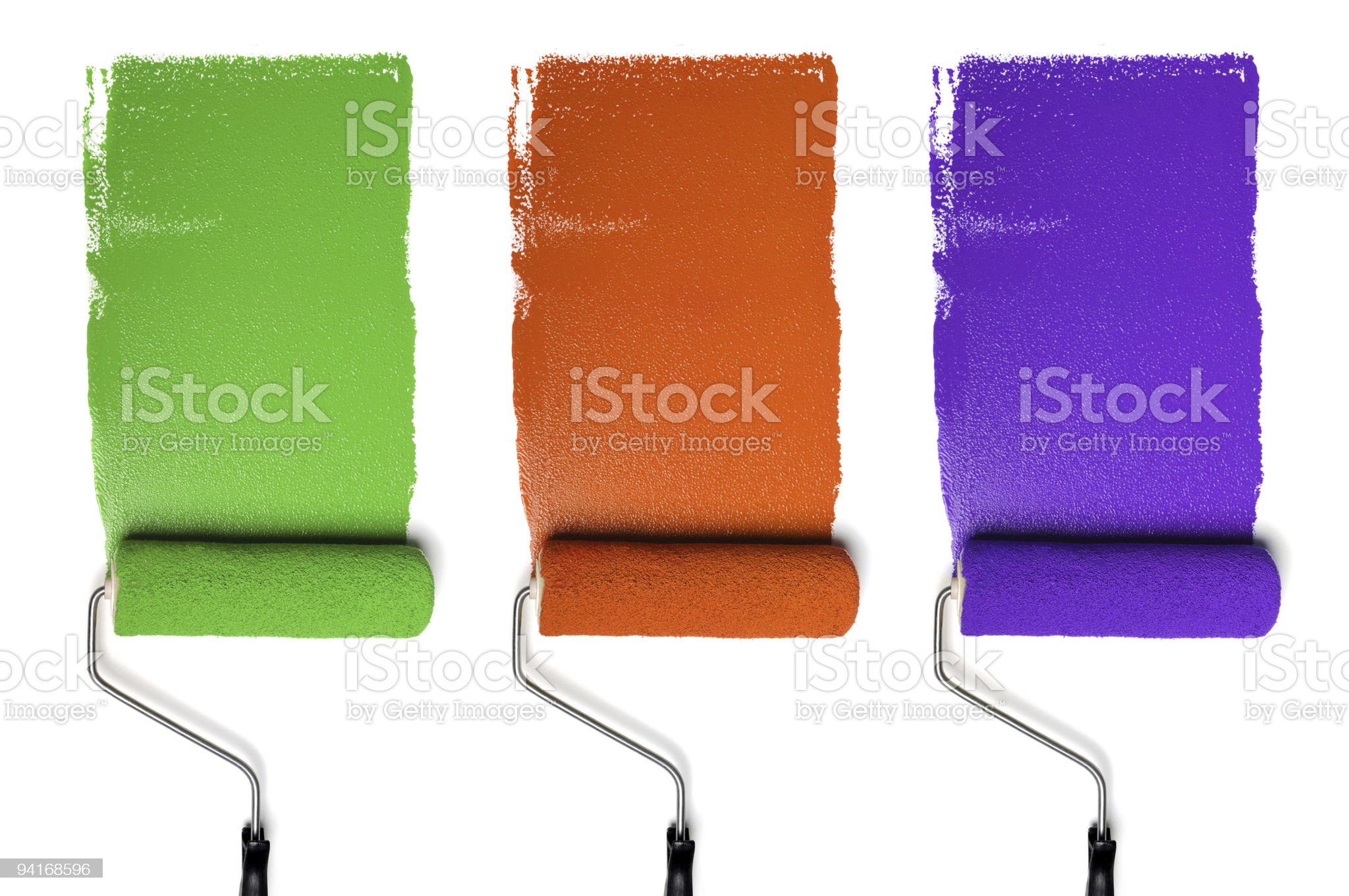Rollers with Secondary Colors royalty-free stock photo