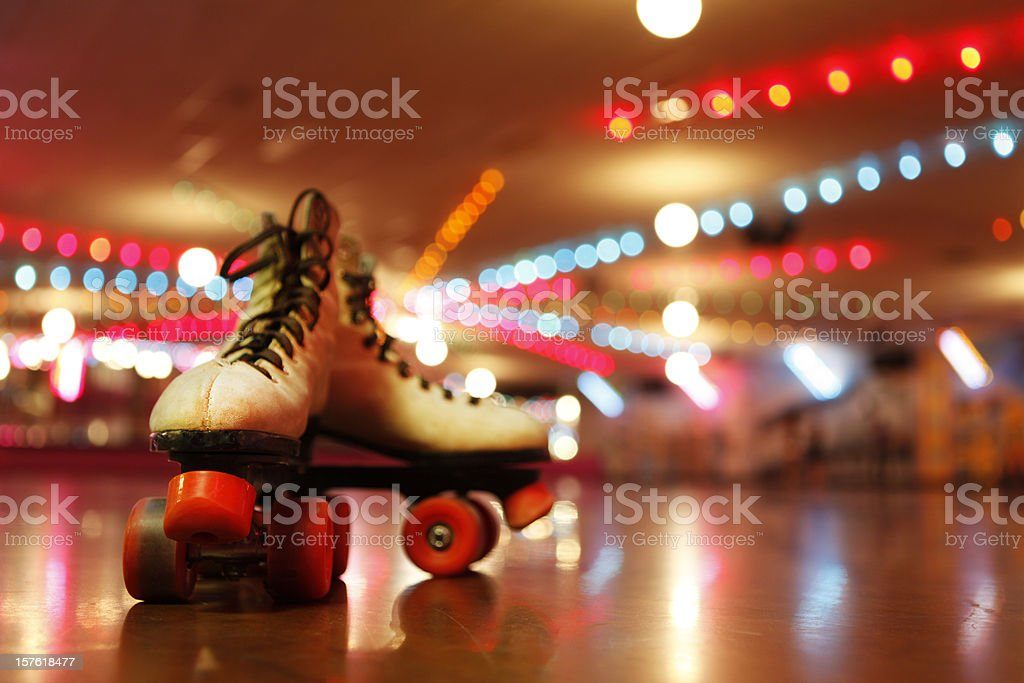 Rollerskates in the Roller Disco stock photo