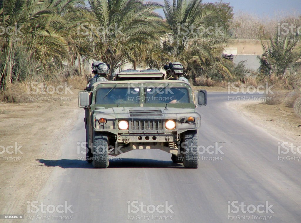 Rollin' down the Road. stock photo