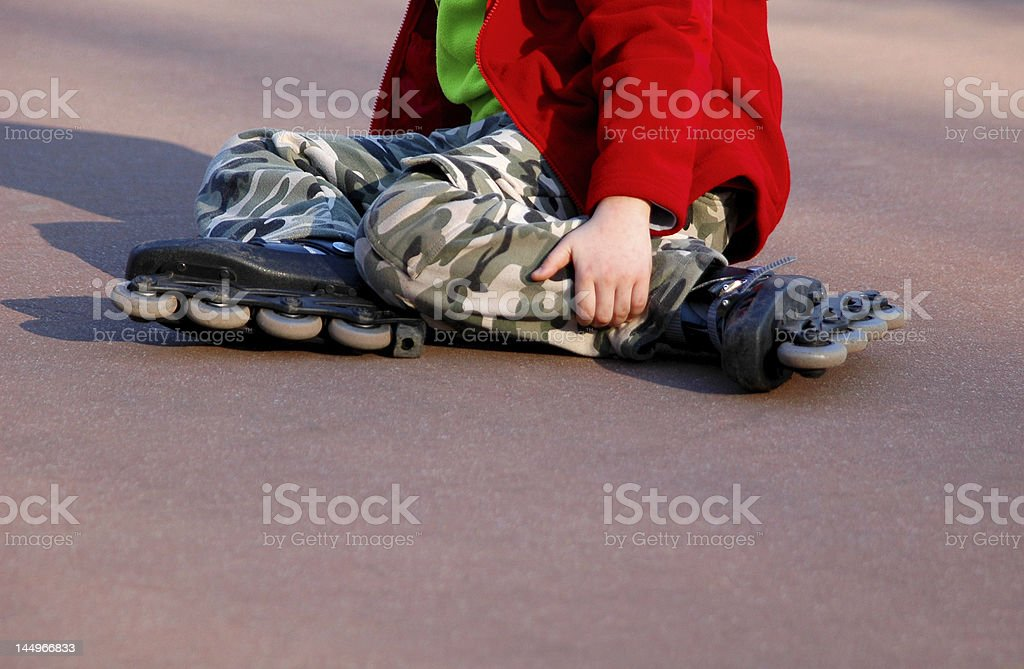 Rolling and falling royalty-free stock photo