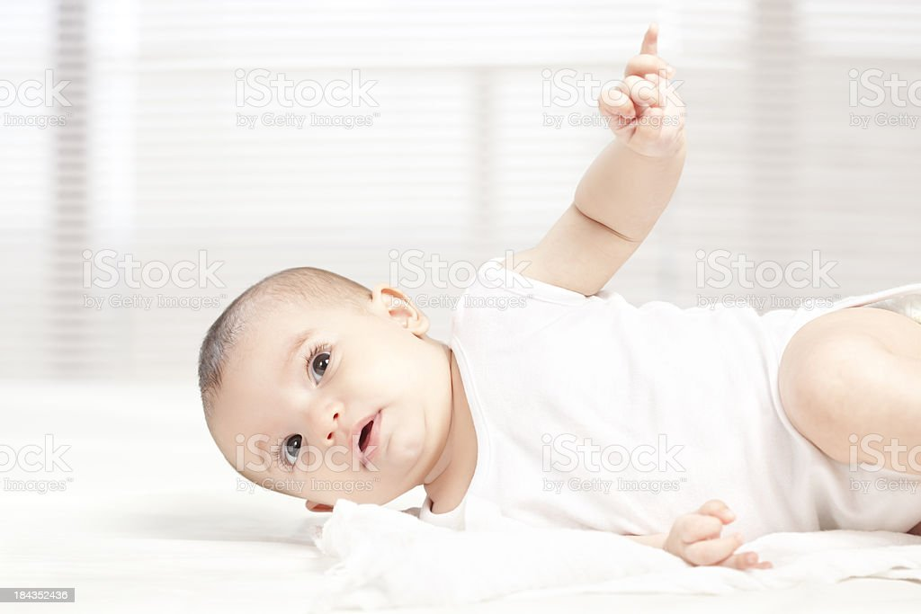 Rolling baby. stock photo