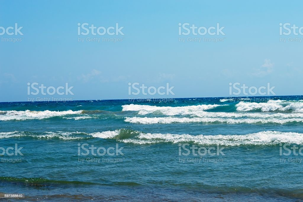 rolling blue waves stock photo