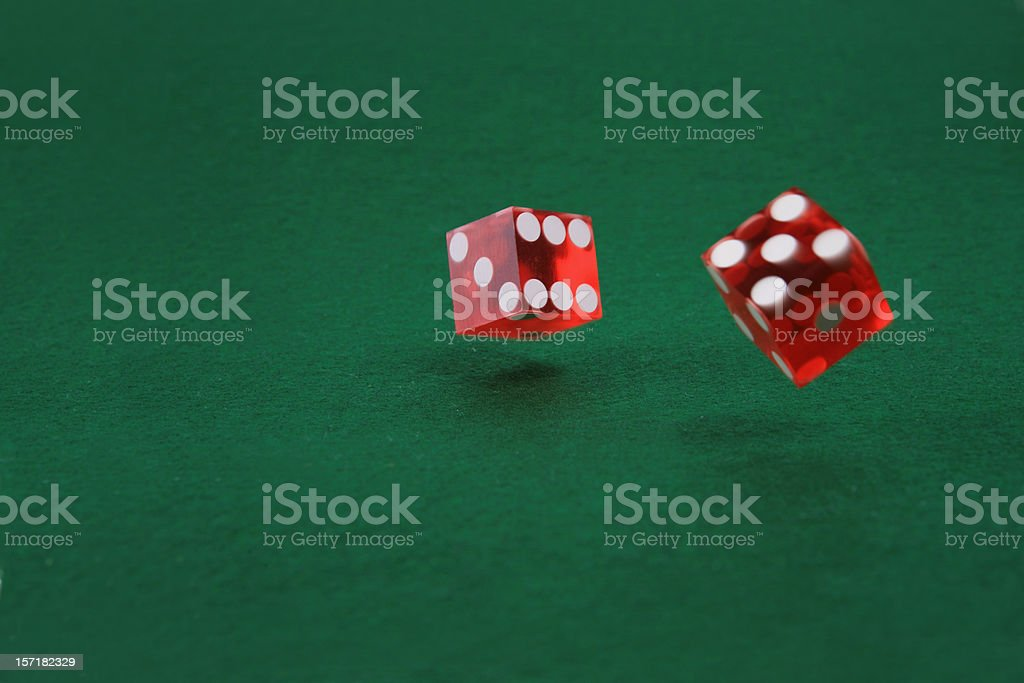 Rolling Casino Dice royalty-free stock photo