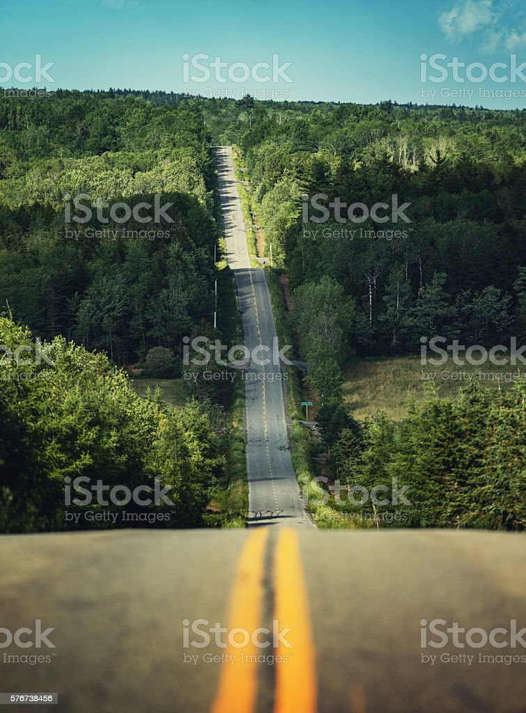 Rolling Country Road stock photo