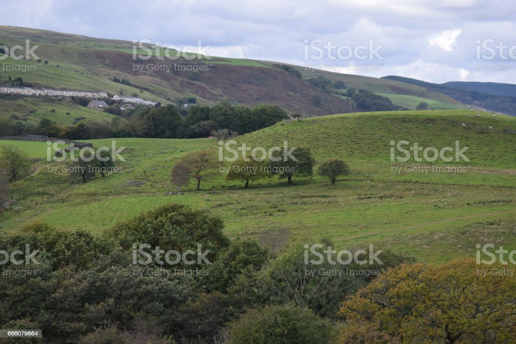 Rolling Countryside. stock photo