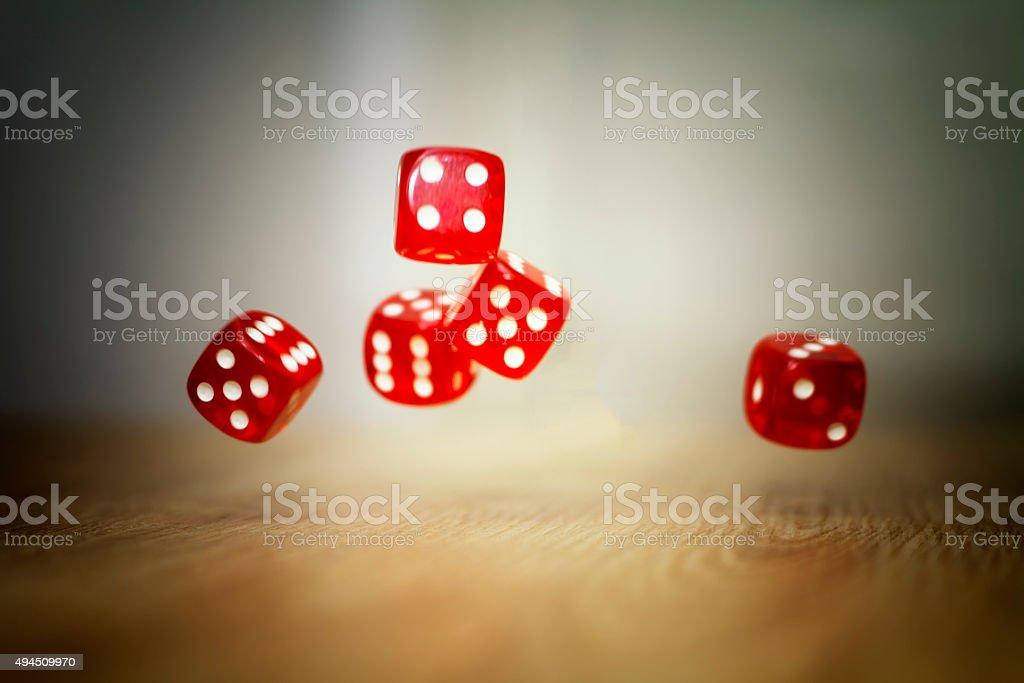 Rolling Dice gambling stock photo