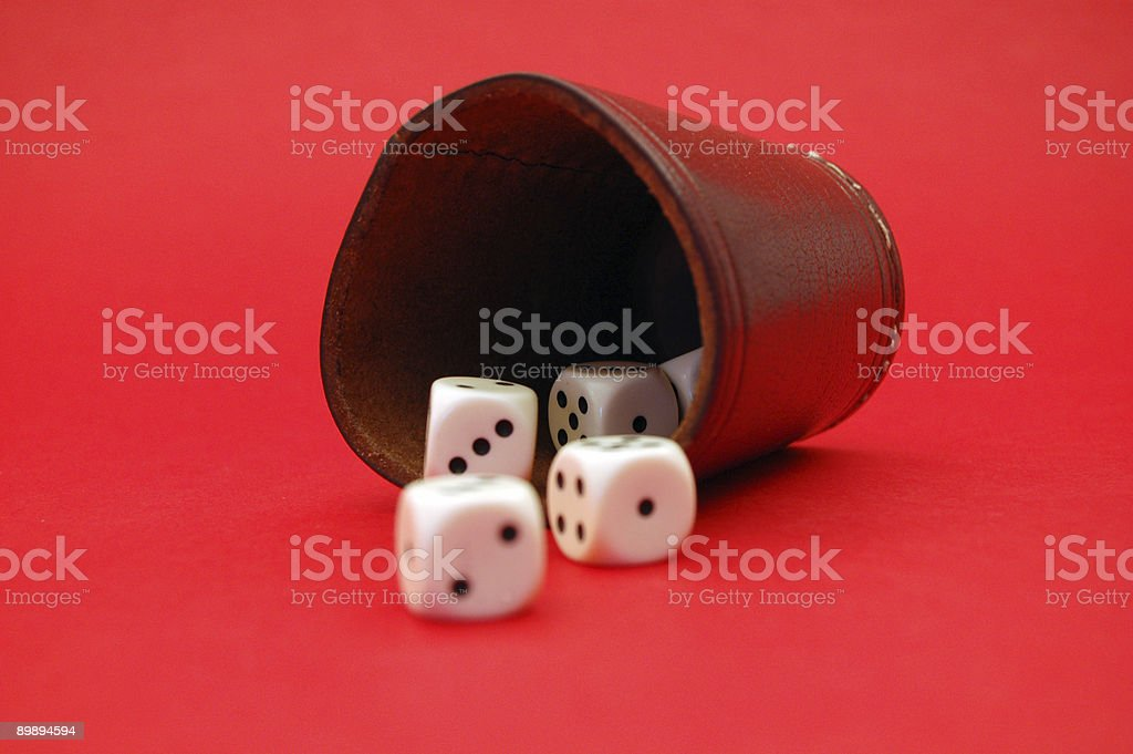 Rolling Dices stock photo