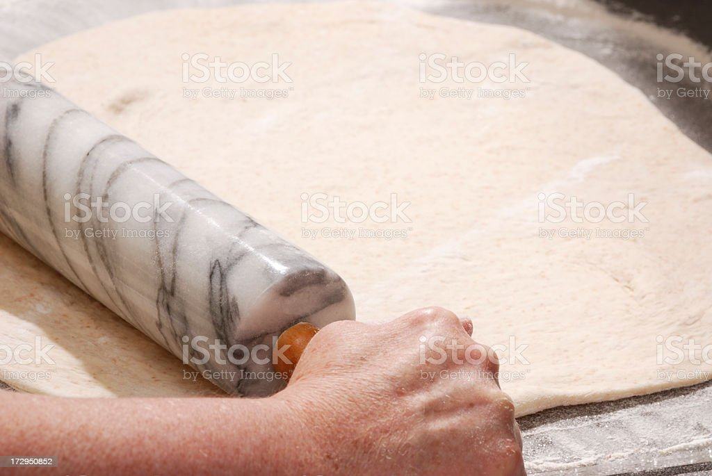 Rolling Dough royalty-free stock photo