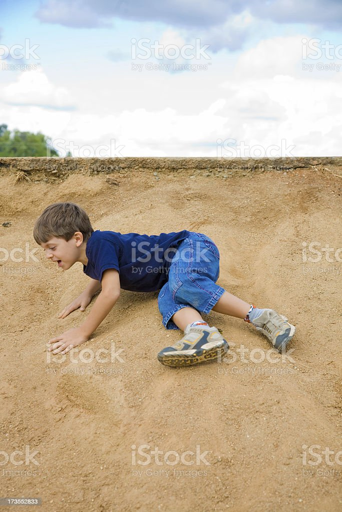Rolling Down The Hill royalty-free stock photo