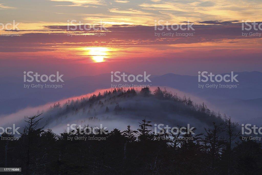 Rolling Fog stock photo