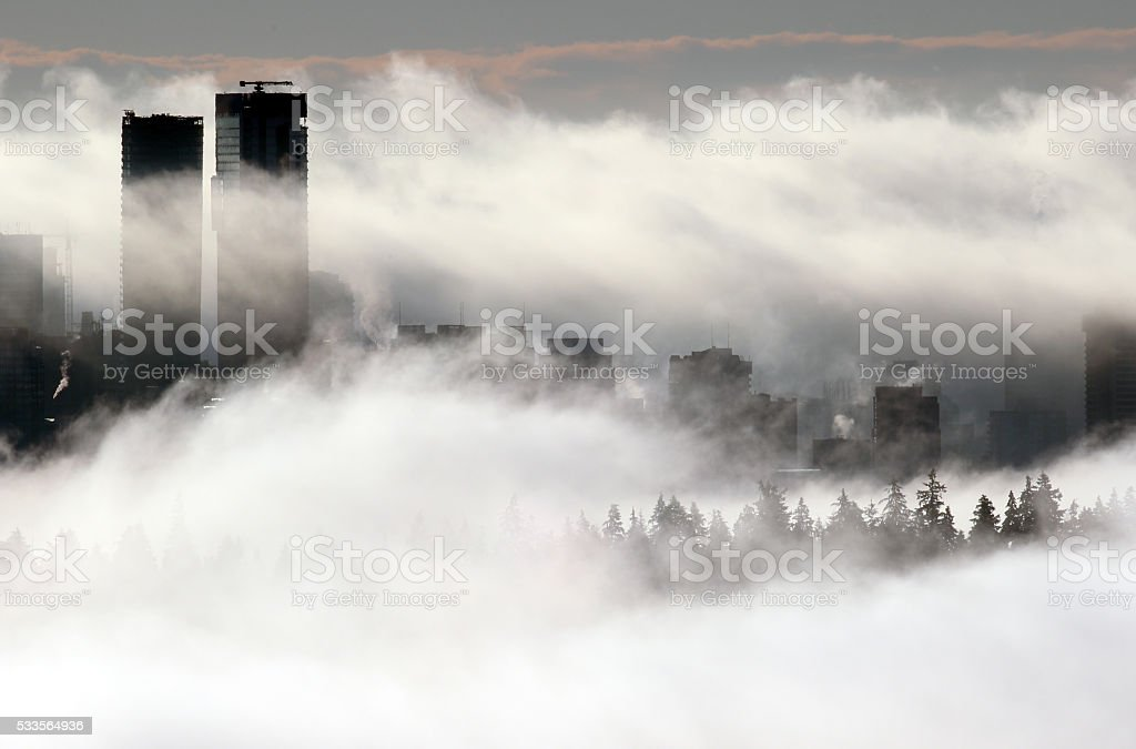 Rolling Fog stock photo