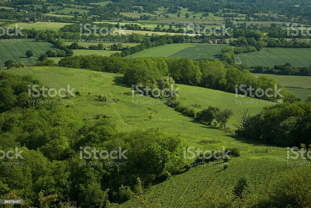 Rolling green countryside royalty-free stock photo