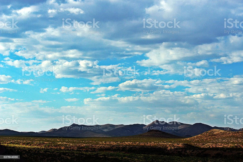 Rolling Hills and Clouds stock photo