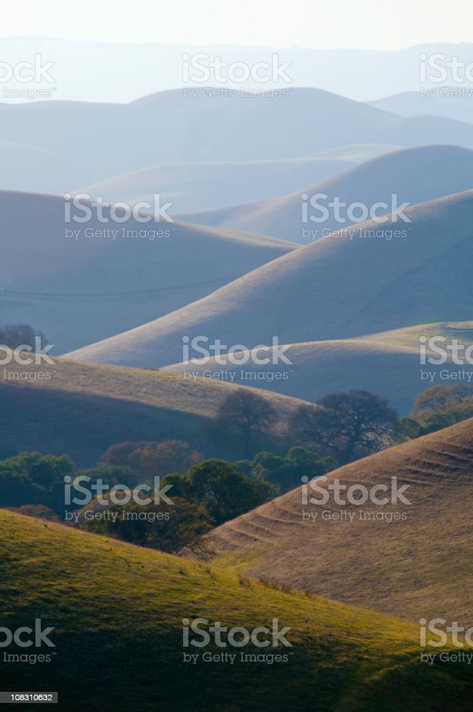 Rolling Hills in California royalty-free stock photo