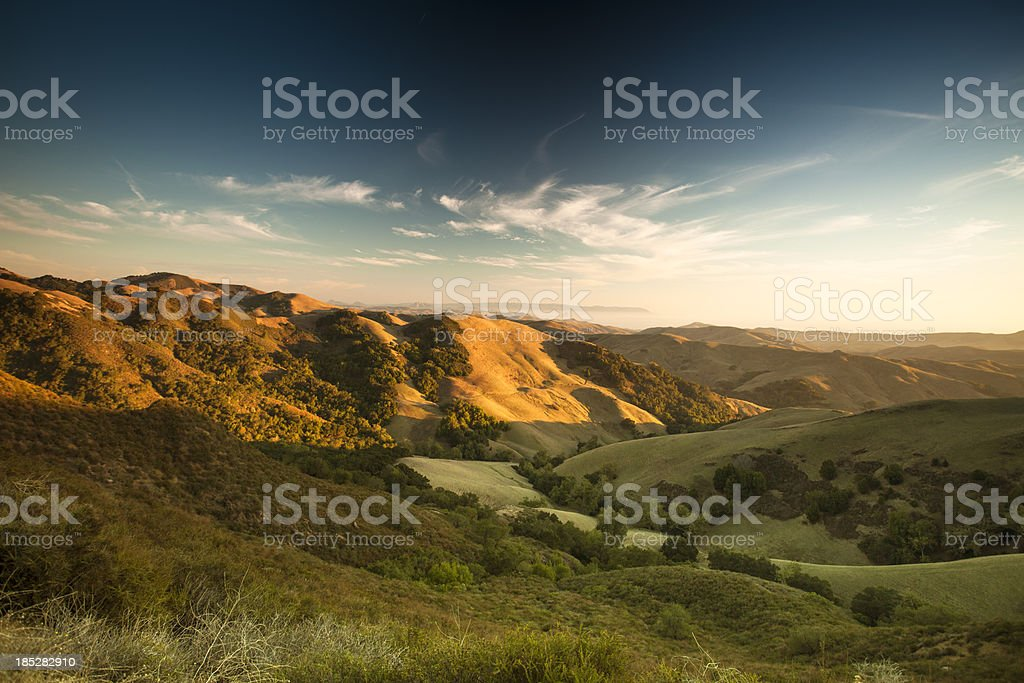 Rolling hills in the Salinas Valley California stock photo