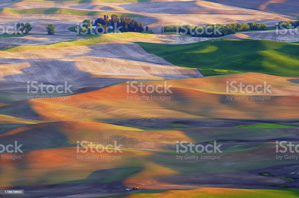 Rolling Hills of Palouse Region stock photo