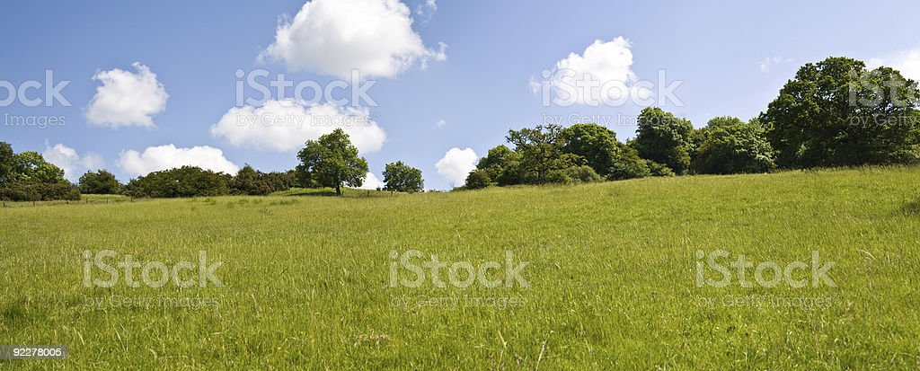 Rolling hillside view stock photo