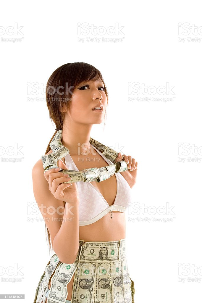 Rolling in money royalty-free stock photo