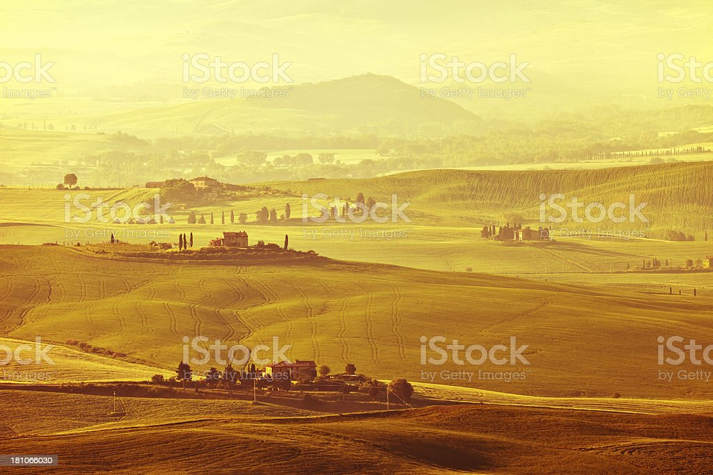 Rolling Landscape, Tuscany, Italy royalty-free stock photo