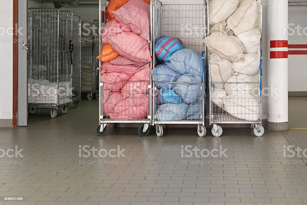 Rolling Laundry stock photo