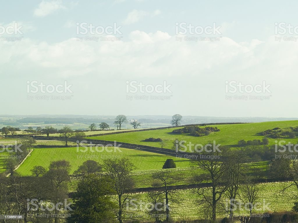 Rolling Leicestershire farmland stock photo