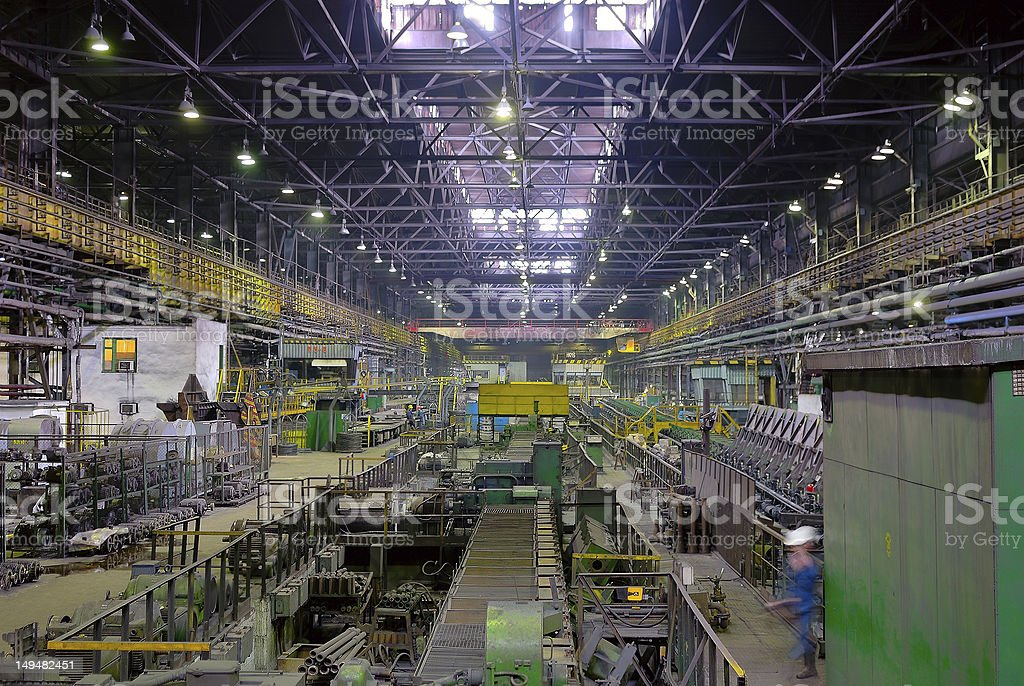 rolling mill in perspective stock photo