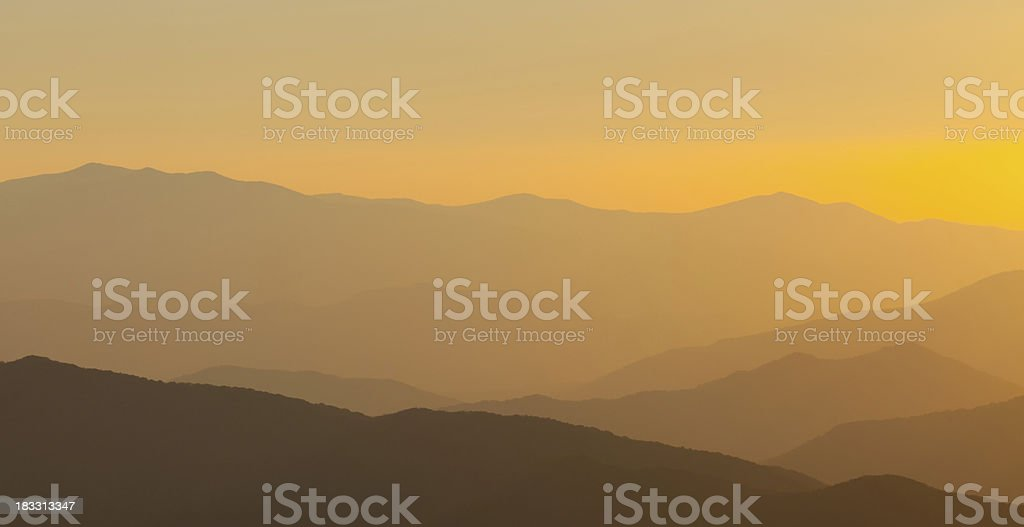Rolling Mountain Ranges royalty-free stock photo